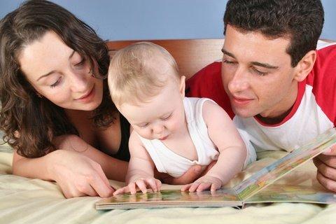 Parents raising a smart baby